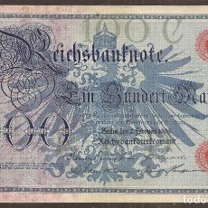 Billetes extranjeros: ALEMANIA. 100 MARK 7.2.1908. PICK 33. Lote 152595284