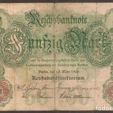 Billetes extranjeros: ALEMANIA. 50 MARK 7.2.1906. PICK 32. Lote 152595393