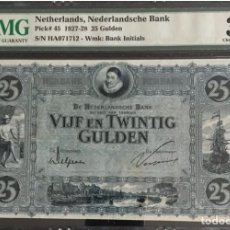 Billetes extranjeros: PMG 35 // NETHERLANDS 25 GULDEN 1928 PICK#45. Lote 152687008