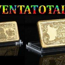 Billetes extranjeros: ESTADOS UNIDOS LINGOTE 5 DOLARES ORO DE 24 KILATES 46 GR ( GRAN JEFE INDIO AMERICANO ) Nº6. Lote 153266202
