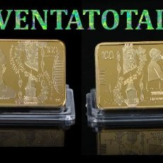 Billetes extranjeros: CANADA LINGOTE 100 DOLARES ORO DE 24 KILATES 45 GR ( ROBER BORDEN 1º MINISTRO DE 1911 A 1920) Nº5. Lote 153269906