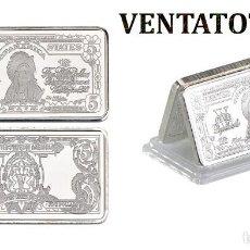 Billetes extranjeros: ESTADOS UNIDOS LINGOTE 5 DOLARES DE PLATA 43 GRA ( GRAN JEFE INDIO AMERICANO ) Nº4. Lote 153273418