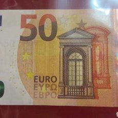 Billetes extranjeros: HOLANDA MARIO DRAGHI 50 EUROS 2017 SERIE PB9825212896. ROJO 212896. Lote 153378490