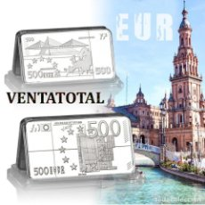 Billetes extranjeros: EUROPA LINGOTE 500 € EUROS DE PLATA 43 GRA - Nº4. Lote 163081133
