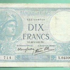 Billetes extranjeros: FRANCIA: BILLETE DE 10 FRANCS 1941.. Lote 153570086