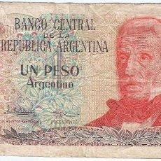 Billetes extranjeros: ARGENTINA 1 PESO ARGENTINO 1983 PK 311 A.2. Lote 153600290