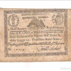 Billetes extranjeros: BILLETE DE 1 Y 1/2 PAOLI DE LA 1ª REPÚBLICA ROMANA (ITALIA) DE 1798. BC. (BE503). Lote 153695354