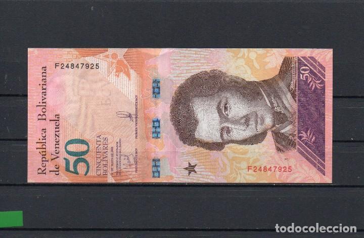 VENEZUELA 50 Bolivares Banknote World Paper Money Currency Pick 105 2018 Leopard
