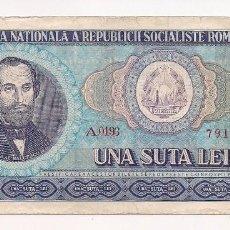 Billetes extranjeros: RUMANIA - BILLETE DE 100 LEI . Lote 154705226