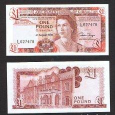 Billetes extranjeros: GIBRALTAR : 1 LIBRA. 1988 SC.UNC.P.20 E. Lote 270246543