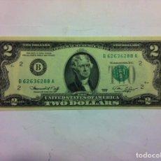 Billetes extranjeros: USA - 2 DOLARES 1976- PLANCHA. Lote 155100234