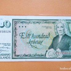 Billetes extranjeros: ISLANDIA 100 KRONUR PICK 54 SC. Lote 155109490