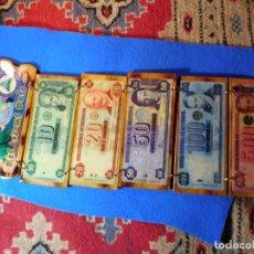 Billetes extranjeros: COLLAJE DE BILLETES DE NICARAGUA, FORMANDO TIRA, PEGADOS SOBRE TABLAS, MUY BONITOS.. Lote 155144282