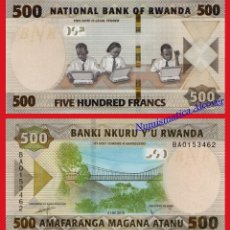 Billetes extranjeros: RWANDA 500 FRANCOS 2019 PICK NUEVO - SC. Lote 156890389