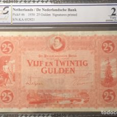 Billetes extranjeros: PCGS 25 NETHERLANDS 25 GULDEN 1929 PICK 46 VERY RARE. Lote 155181353