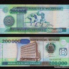 Billetes extranjeros: MOZAMBIQUE : 200000 METICAIS 2003. SC.UNC. PK.141. Lote 157139105