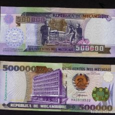 Billetes extranjeros: MOZAMBIQUE : 500000 METICAIS 2003. SC.UNC. PK.142. Lote 157139078