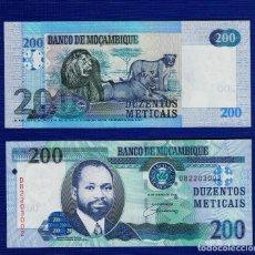 Billetes extranjeros: MOZAMBIQUE : 200 METICAIS 2006. SC.UNC. PK.146. Lote 157139020