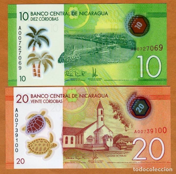10;20;50 cordobas 2015 2014 UNC Pick New SET Nicaragua POLYMER New Design