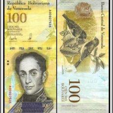 Billetes extranjeros: BILLETE DE AMERICA (VENEZUELA) 100.000 BOLIVARES 2017 SIN CIRCULAR-UNC. Lote 155762026