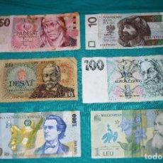 Billetes extranjeros: LOTE (101) 6 BILLETES MUNDO CIRCULADOS. Lote 155787166