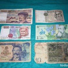 Billetes extranjeros: LOTE (102) 6 BILLETES MUNDO CIRCULADOS. Lote 155787406