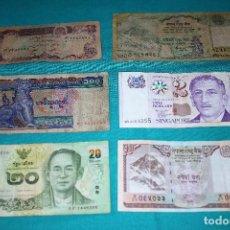 Billetes extranjeros: LOTE (105) 6 BILLETES MUNDO CIRCULADOS. Lote 155788066
