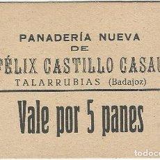 Billetes extranjeros: ESPAÑA - SPAIN 5 PANES TALARRUBIAS (BADAJOZ). Lote 155802682