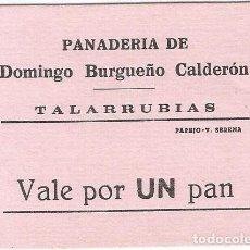 Billetes extranjeros: ESPAÑA - SPAIN 1 PAN TALARRUBIAS (BADAJOZ). Lote 155802942