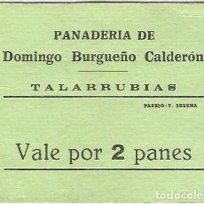 Billetes extranjeros: ESPAÑA - SPAIN 2 PANES TALARRUBIAS (BADAJOZ). Lote 155803166