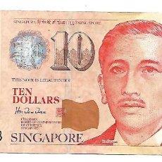 Billetes extranjeros: SINGAPUR // SINGAPORE 10 DOLLARS 1999 PICK 40A . . Lote 155906994