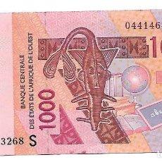 Billetes extranjeros: ESTADOS DEL AFRICA OCCIDENTAL 1000 FRANCS 2003 (S GUINEA-BISSAU ) PICK 915 SA CASI SIN CIRCULAR. Lote 155914462