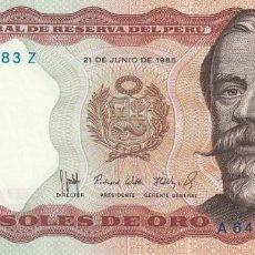 Billetes extranjeros: PERÚ 5.000 SOLES 1985. Lote 155926394