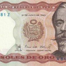 Billetes extranjeros: PERÚ 5.000 SOLES 1985. Lote 155927150