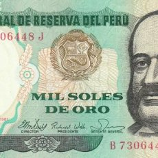 Billetes extranjeros: PERÚ 1.000 SOLES 1981. Lote 155928682