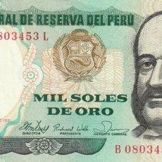 Billetes extranjeros: PERÚ 1.000 SOLES 1981. Lote 155928750