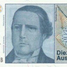 Billetes extranjeros: ARGENTINA 10 AUSTRALES (1985-89). Lote 155930806