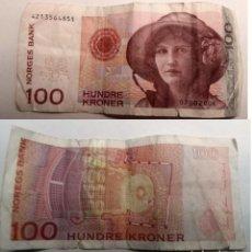 Billetes extranjeros: NORUEGA, BILLETE DE DE 100 CORONAS 2006. Lote 156097830