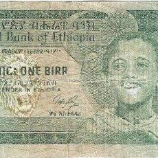 Billetes extranjeros: ETIOPÍA - ETHIOPIA 1 BIRR 1976 PK 36. Lote 156168962