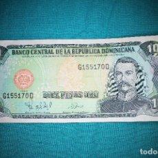 Billetes extranjeros: BILLETE REPUBLICA DOMINICANA 10 PESOS ORO 1998. Lote 156510622