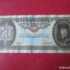 Billetes extranjeros - Hungria. billete de 50 florines. 1980 - 156529946