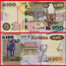 Billetes extranjeros: ZAMBIA 100 KWACHA 2018 PICK NUEVO - SC. Lote 156890826