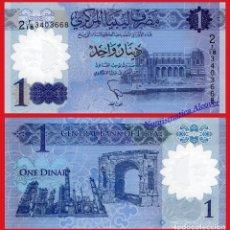 Billetes extranjeros: LIBIA NUEVO BILLETE DE 1 DINAR DEL AÑO 2019 POLÍMERO PICK NUEVO - SC. Lote 156900322