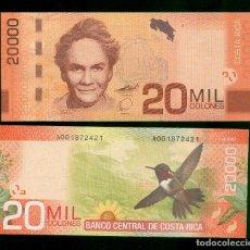 Billetes extranjeros: COSTA RICA : 20000 COLONES.2009 SC.UNC. PK.278. Lote 156909642