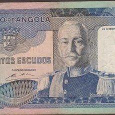 Billetes extranjeros: BILLETES - ANGOLA - 500 ESCUDOS 1972 - SERIE JC - PICK-102 (MBC). Lote 156955530