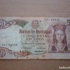 Billetes extranjeros: PORTUGAL - 50 ESCUDOS 1964. Lote 157128854