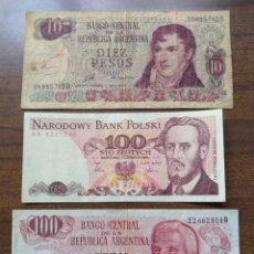 Billetes extranjeros: 6 BILLETES DEL MUNDO. Lote 157131204