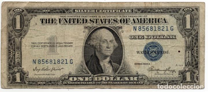 BILLETE 1 DOLAR AÑO 1935 SERIE 1935 E (Numismática - Notafilia - Billetes Extranjeros)