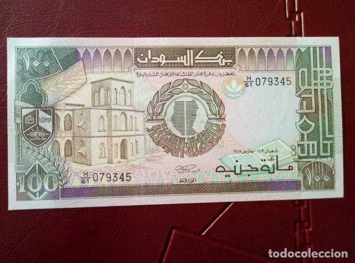 Billetes extranjeros: Billete de Sudan 100 libras sudanesas plancha - Foto 2 - 158581886