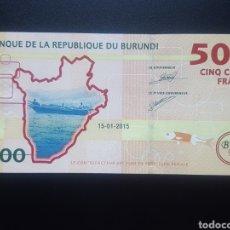 Billetes extranjeros: BURUNDI 500 FRANCOS 2015 (SC) - ENVIO GRATIS A PARTIR DE 35€. Lote 158842310